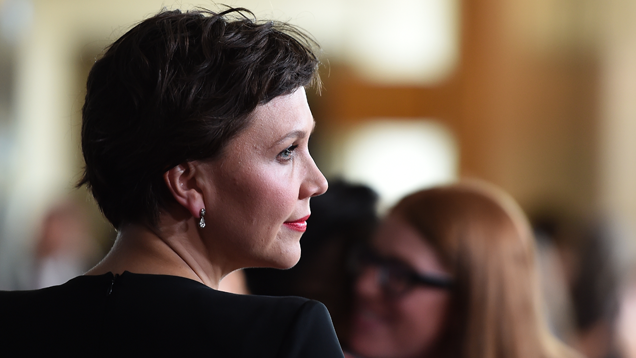 Maggie Gyllenhaal is unimpressed. Photo: Jezebel/Splash/Getty
