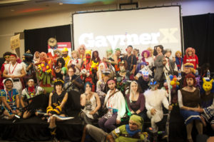 large group of cosplayers from last year's GaymerX conference